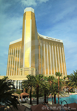 A daytime shot of the Mandalay Bay Editorial Stock Photo