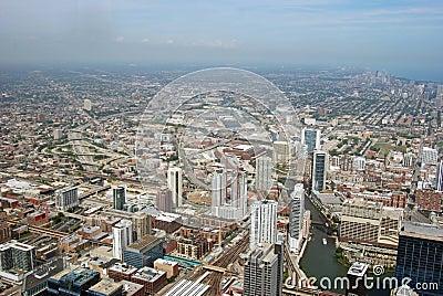 Daytime skyline in Chicago