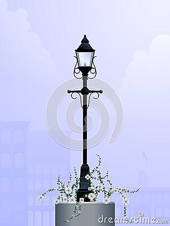 Daytime streetlamp