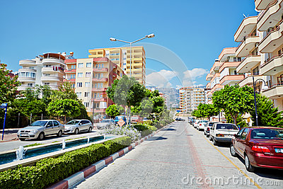 Daytime traffic at Mehmet Cakir Street Editorial Stock Photo