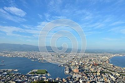 Daytime view of Hakodate.