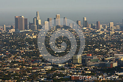 Daytime view of Los Angeles