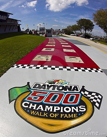Daytona 500 Champions walk of fame Editorial Stock Image
