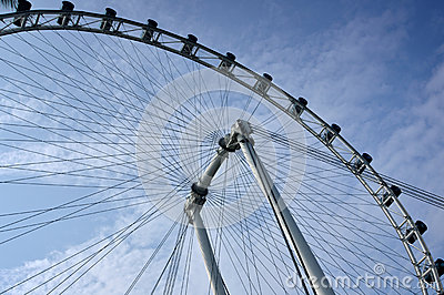 Dayview of the Singapore Flyer Editorial Photo