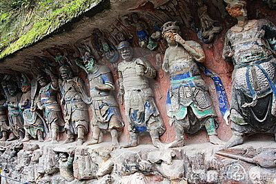 Dazu Bao Ding Mountain Rock Carvings