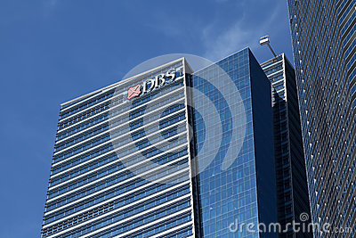 DBS Bank building Editorial Stock Image