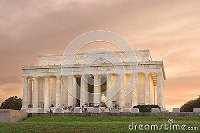 Dc林肯纪念日落华盛顿