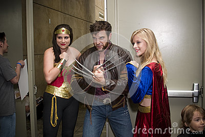 DC and Marvel Comic Characters at Baltimore Comicon