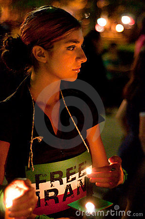 DC Vigil for Iran Editorial Photography