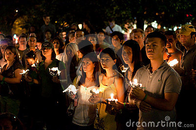 DC Vigil for Iran Editorial Photography