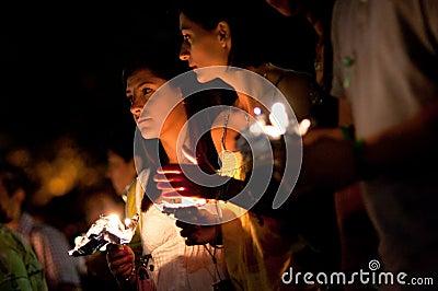 DC Vigil for Iran Editorial Stock Photo