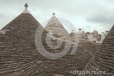 "Dächer von Alborobello, ""trulli"""