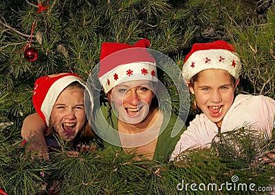 Décoration humaine sur l arbre de christmass