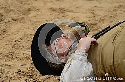 Döda män Redaktionell Foto