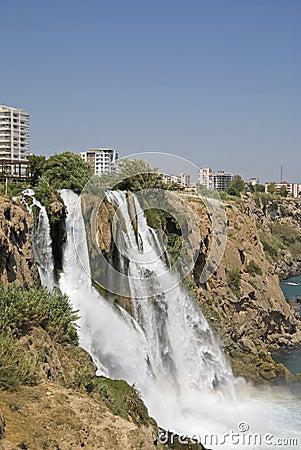 Düden waterfalls at Antalya, Turkey