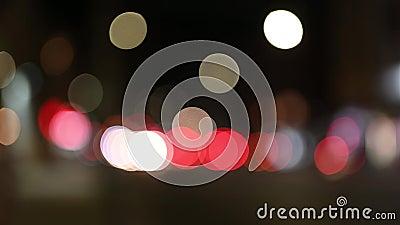 De που στρέφεται/εικόνα θαμπάδων της πόλης τη νύχτα φιλμ μικρού μήκους