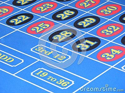 De aantallen van de roulette