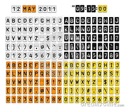 De aantallensymbolen van brieven