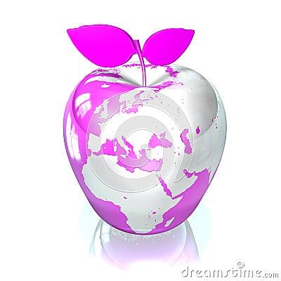 De Aarde van de appel
