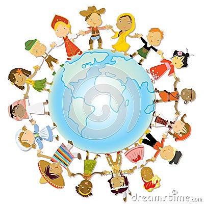 De aardedag van kinderen