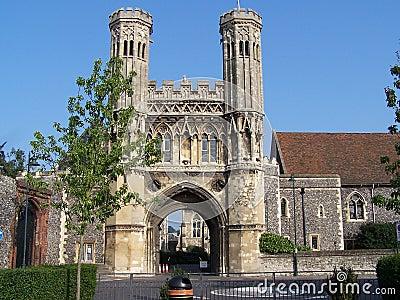 De abdij van heilige Augustine in Canterbury