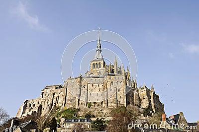 De abdij van het Saint Michel van Mont