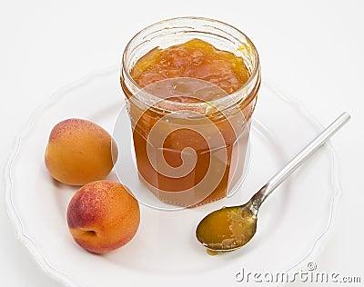 De abrikoos behoudt met vers fruit