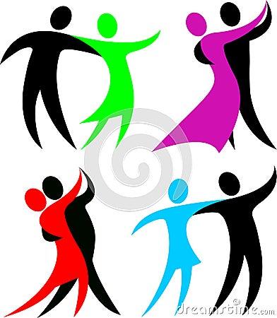 De abstracte Dansers van de Balzaal