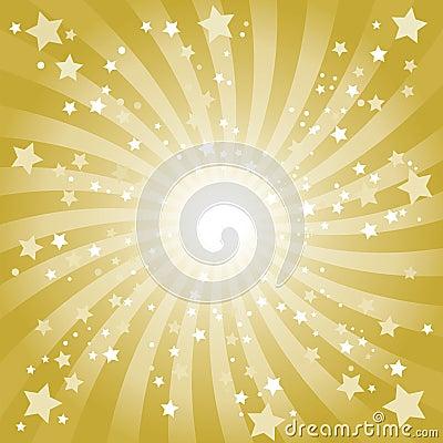 De abstracte Gouden Achtergrond van de Ster