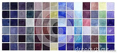 De abstracte vierkanten van waterverf koude kleuren royalty vrije stock fotografie afbeelding - Grafiek blauw grijze verf ...