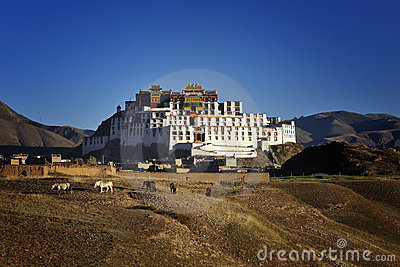 De academie van het Boeddhisme van Tibet