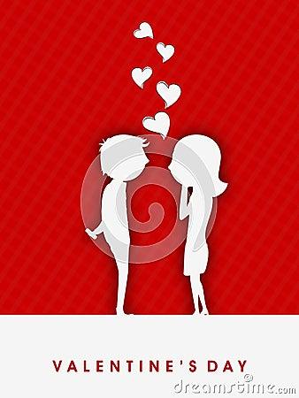De achtergrond van de Dag van valentijnskaarten.