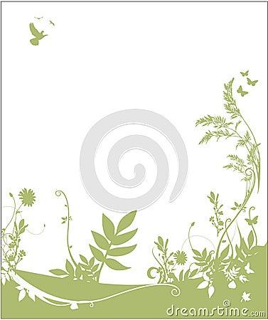 De achtergrond van de flora en van de fauna