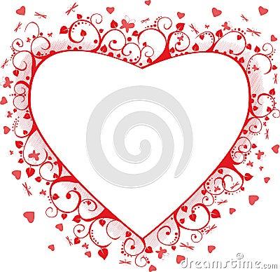 De achtergrond van de valentijnskaart