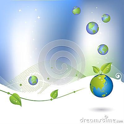 De achtergrond van het milieu met bolpictogram