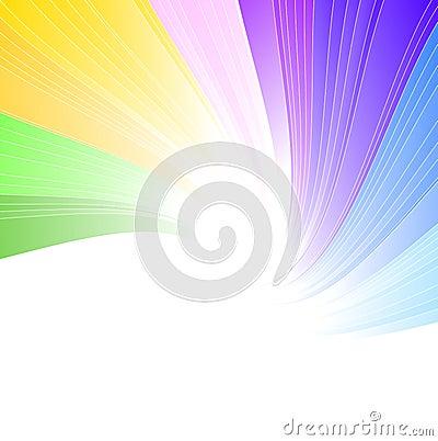 De achtergrond van het regenboogspectrum