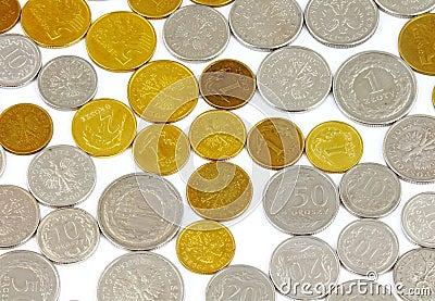De achtergrond van muntstukken