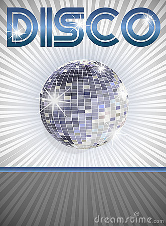 De affiche van de disco
