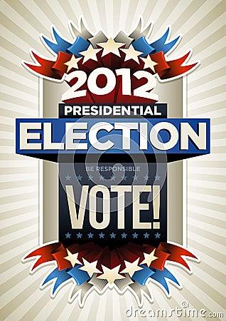De Affiche van de V.S.- Verkiezing