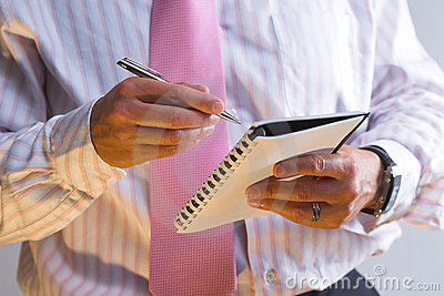 De agenda van de zakenman