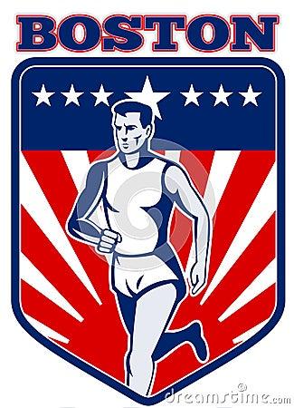 De agent Boston van de marathon