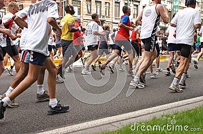 De agenten van de marathon Redactionele Afbeelding