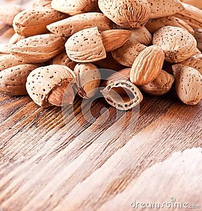 De amandelen van noten