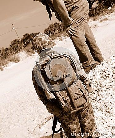 De Amerikaanse militairen van WO.II