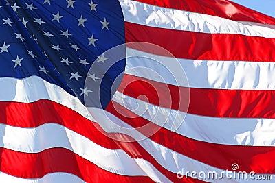 De Amerikaanse of Vlag van Verenigde Staten