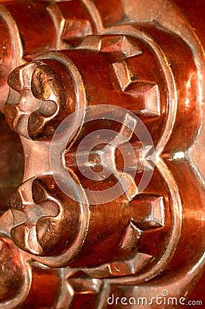 De antieke vorm van de kopervorm