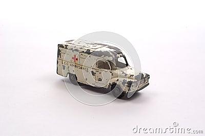 De antieke Ziekenwagen van het Stuk speelgoed