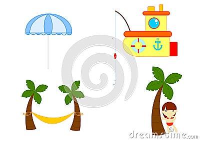 De apparatuur van de zomer