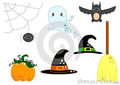 De apparatuur van Halloween