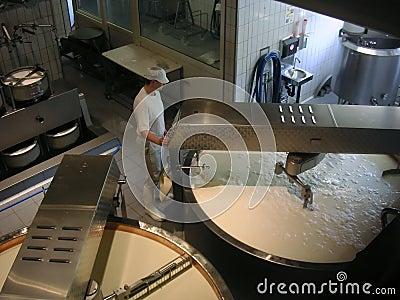 De arbeider van de kaas